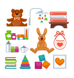 different adorable toys vector image vector image