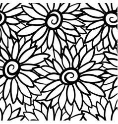 floral background with stylized blooming vector image vector image