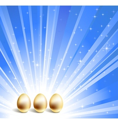 gold eggs background vector image