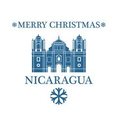 Greeting Card Nicaragua vector image vector image