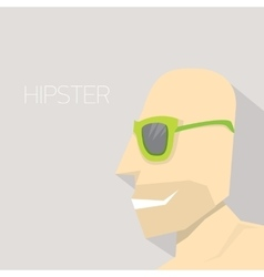 Hipster man icon hipster style vector