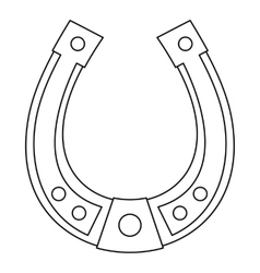 Horseshoe icon outline style vector