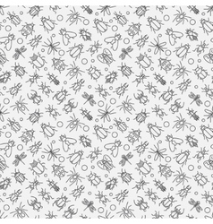 Insects linear pattern vector