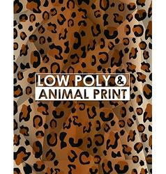 Low poly animal print vector