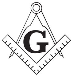 Masonic square vector