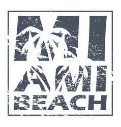 Miami beach poster vector
