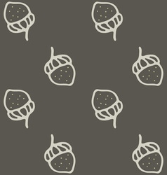 Nuts seamless pattern art cartoon vector image
