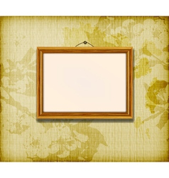 old wooden frame vector image
