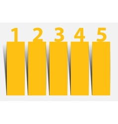 One two three four five - progress icons for five vector image