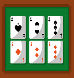 poker playing cards fortune gambling vector image