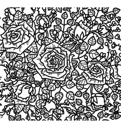 rose pattern vector image