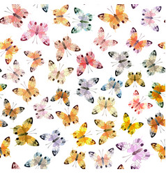 seamless background of butterfly vector image vector image