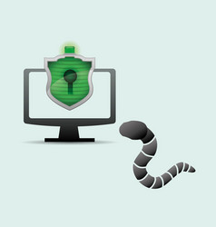 Security system design protection icon isolated vector