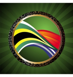 soccer ball with flag of South Africa vector image vector image