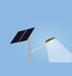solar panel and street lights vector image