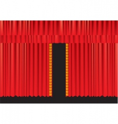 stage curtains vector image