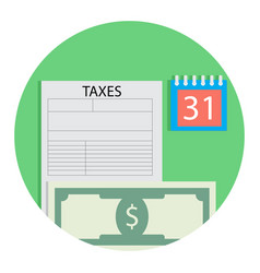 Tax and money vector