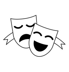 Theater masks concept icon image vector