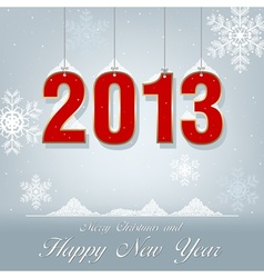 New year greetings 2013 vector