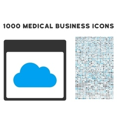 Cloud calendar page icon with 1000 medical vector