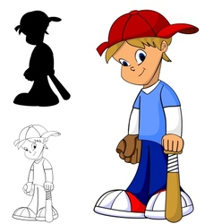Kid baseball vector