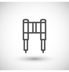 Motorcycle fork line icon vector