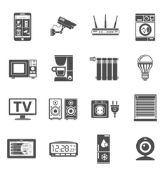 Smart house and internet of things icons set vector