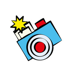 Cartoon photo camera image vector