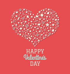 Red valentines day postcard vector