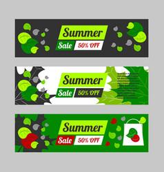 Summer sale banner set vector