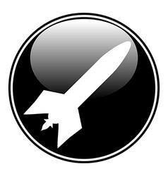 Military rocket button vector