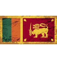 Sri lanka flag grunge background vector