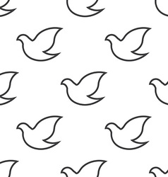 Dove seamless pattern vector