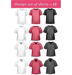 black and white men polo shirt vector image