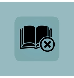 Pale blue remove book icon vector