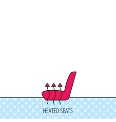 Heated seat icon warm autoarmchair sign vector
