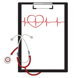 Medical clipboard vector image