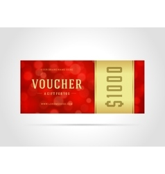 Voucher template abstract lght design vector