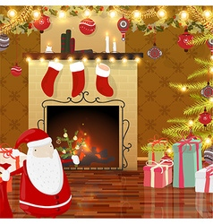 Animated christmas background vector