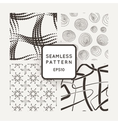A set of four seamless patterns squares vector