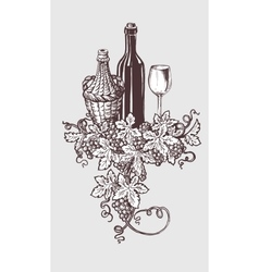 Wine and winetasting vector