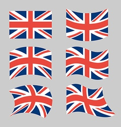 Great britain flag set national flag of british vector