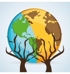 Save planet design ecology icon think green vector