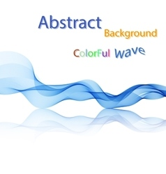 Abstract colorful smoky waves on mirror vector