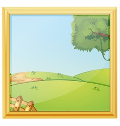 A beautiful landscape photo frame vector image vector image