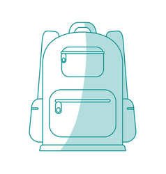 backback icon design vector image vector image