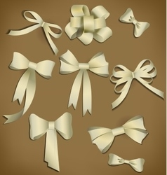 bow collection vector image