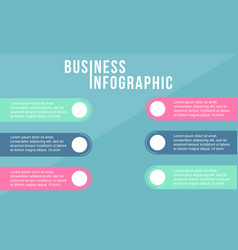 Business infographic label data step vector