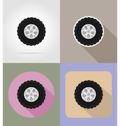 car equipment flat icons 14 vector image