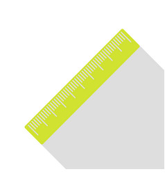Centimeter ruler sign pear icon with flat style vector